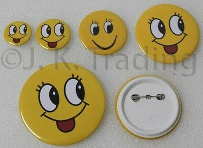100 of 32mm Pin-backed Round Badge Button Supplies for Button Maker Badge Maker