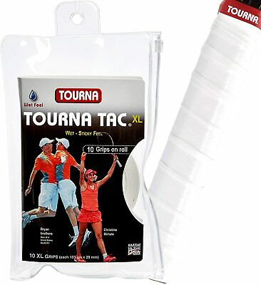 Tourna Tac XL - White - 10 Pack Overgrip Overgrips Tennis
