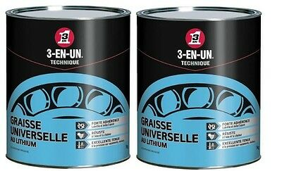2 X 1 Kg Graisse Universelle Au Lithium 3 En 1 Lubrification Engrenage Roulement