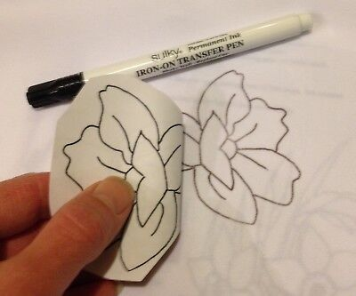Sulky of America Embroidery Transfer Pen black, paint on fabric craft