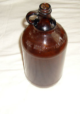Thatcher Manufacturing Corp. Brown Glass half gallon jug #2713