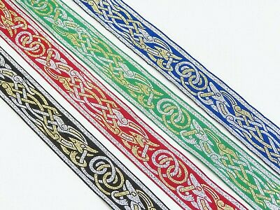 """1.1/4"""" (32mm) 'Zoomorphic ' Jacquard Ribbon by the yard or pre-cut length"""