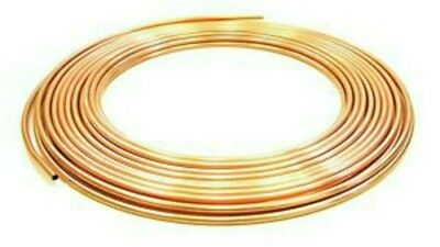 8Mm X 5 Metres  Microbore Copper Pipe/tube For Gas/plumbing//heating/water/oil