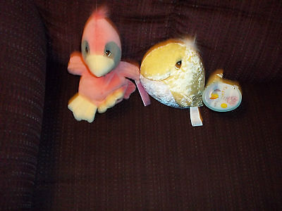 New Lot Of 2 Precious Moments Tender Tails Plush Doll Figures Red Robin & Whale