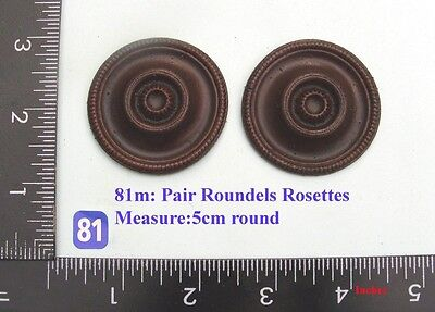 "81M ""2 large rosettes"" clock case / furniture DIY"