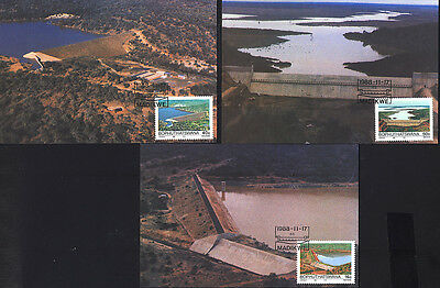 1988 Bophuthatswana DAM WATER THREE Maxicards 176