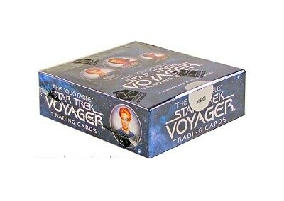 The Quotable Star Trek Voyager Factory Sealed Hobby Box with 3 Autographs