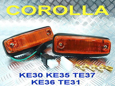 Side Marker Light Lamp Fit Toyota Corolla Ke30 Ke35 Ke36 Ke38 Ke55 Te37 Te31