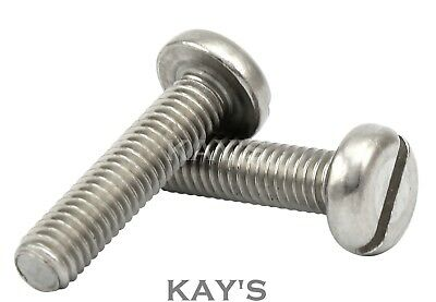 M3, M4, M5mm A2 Stainless Steel Machine Screws, Slotted Pan Head Bolts