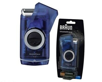 Braun M-60B Mens Mobile Shave Travel Pocket Battery Foil Razor Shaver Timmer M60