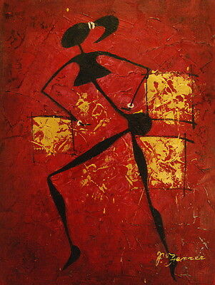 """12""""x16"""" Canvas Wall Art Oil Painting Hand Painted -  Abstract Woman"""