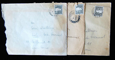 Binyamina,Palestine/Israel Lot of 3 Postal Covers (Used) -Mailed Within Country