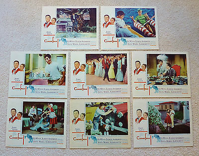 8 NORMAN ROCKWELL 1960 CINDERFELLA LOBBY CARDS ~ Complete Set ~ JERRY LEWIS