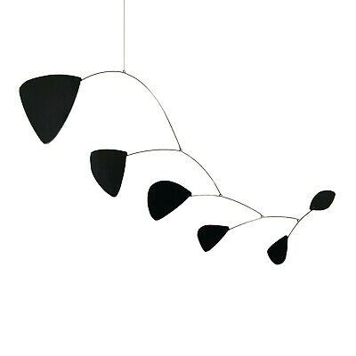 Abstract Modern Pilot Black Hanging Mobile Painted Museum Quality Free Shipping