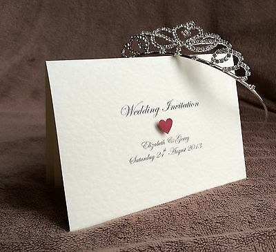 Personalised Day or Evening Handmade Wedding Invitations- Samples Available