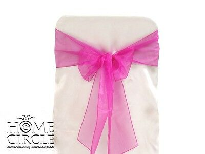 Pink Chair Bow Or Sash 6 Pieces/pack Ideal For Wedding Outdoor Party Engagements