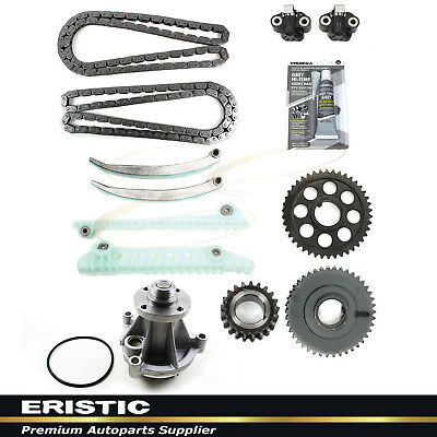 97-00 4.6L FORD Engine Timing Chain Water Pump Kit V8 SOHC 16Valve EXPEDITION