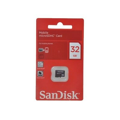 SanDisk 32GB MicroSD HC Class 4 Memory Card 32G GIG SDSDQM-032G Retail Package