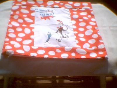 """Pillow COVER 16"""" Dr. Seuss  Cat in the hat and then something went Bump"""