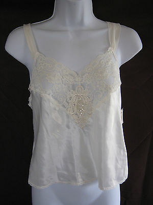 "VTG 80's Lucie Ann II Cropped Length Camisole Size 8 (36"" Bust) Beaded NWT"