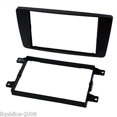CT24SK07 SKODA OCTAVIA 2004 to 2013 BLACK DOUBLE DIN FASCIA ADAPTER PANEL