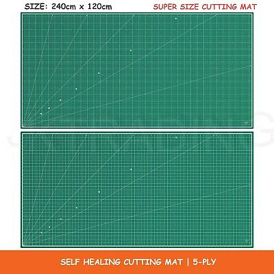 Larger than A0 1.8m by 0.9m 3-Ply Self Healing Cutting Mat Quilting Scrapbook