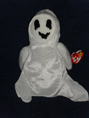 SHEETS GHOST w/Tag 1999 Halloween Ty Original Beanie Babies Baby beanbag plush