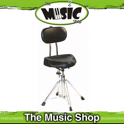 New DXP Saddle Type Heavy Duty Drum Stool with Back Support - Height Adjustable
