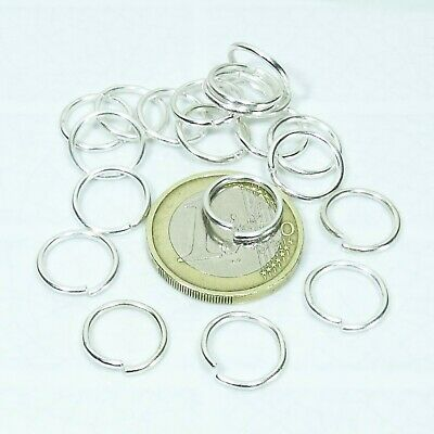 140 Anillas Abiertas 12mm  T435  Open Jump Rings Anello Perline Beads Anneau
