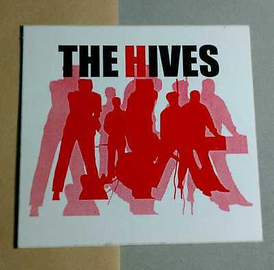The HIVES RED BODY SILHOUETTE PHOTO BOARD GUITAR CASE PROMO STICKER