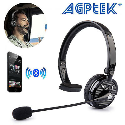 Trucker Over the Head Wireless Bluetooth Boom Mic Blue Parrot Headset Headphones