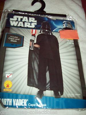 Star Wars -Darth Vader-Just The Cape And Mask One Size For Ages 4 And Up