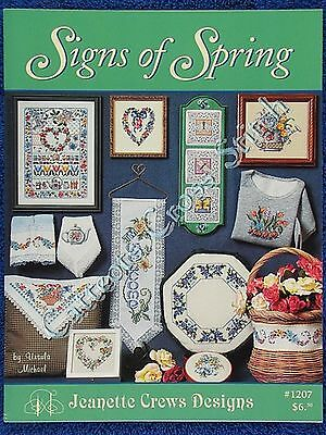 Cross Stitch Pattern Signs of Spring Flowers Floral