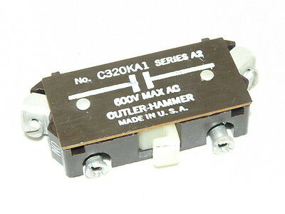 Used Cutler Hammer C320KA1 Auxiliary Contact Block