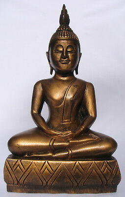 Thai Wooden Handcarved Buddha 38cm tall from Thailand Brand New!!