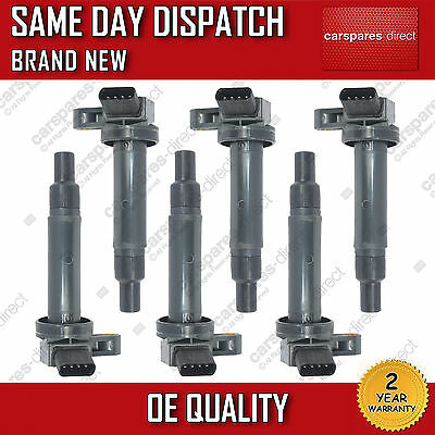 LEXUS IS200 IS300 SET OF 6x PENCIL IGNITION COIL PACK 1999 ON *NEW* 90080-19027