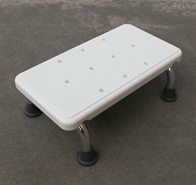 2 x Medical Shower Stool 1 Step White, Stool 41x22x14cm, 200kg, Elderly