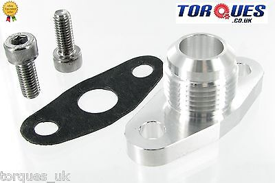 AN-12 12AN  T3 T4 T04B T04E Garrett Turbo Billet Oil Return Flange +Bolts+Gasket