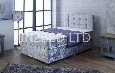 3Ft 4Ft6 Double 5Ft King Size Memory Foam Divan Bed And Mattress