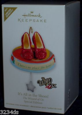 2011 Hallmark IT'S ALL IN THE SHOES Wizard Oz Ruby Slippers SPECIAL Ed Ornament