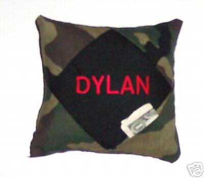 PERSONALIZED Camouflage TOOTH FAIRY PILLOW