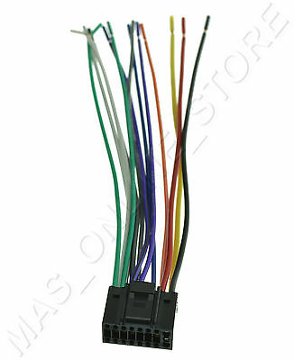 WIRE HARNESS FOR Jvc Kd-R740Bt Kdr740Bt *pay Today Ships ... on