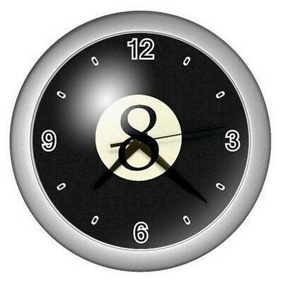 New Wall Clock 8 Eight Ball Snooker Pool Table Room