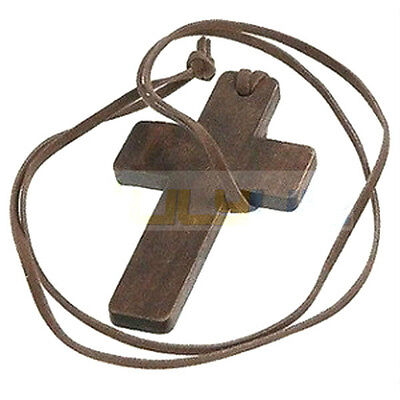 Retro Fashion Ancient Classic Wooden Christian Religous Cross Necklace Pendant