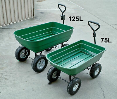 75L Dump Cart, Trailer,Tipping, Garden Outdoor, Barrow, New