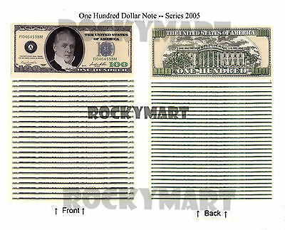 Money Novelty Bills One Hundred Dollar Casino Notes Charity Events Coins Qty 25