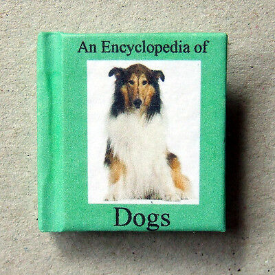 Dollshouse Miniature Book - An encyclopedia of Dogs