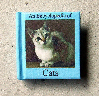 Dollshouse Miniature Book - An encyclopedia of Cats