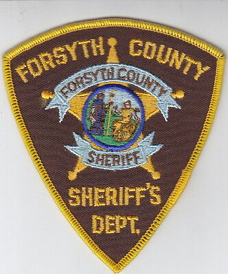 FORSYTH COUNTY NORTH CAROLINA SHERIFF'S DEPARTMENT SHOULDER PATCH