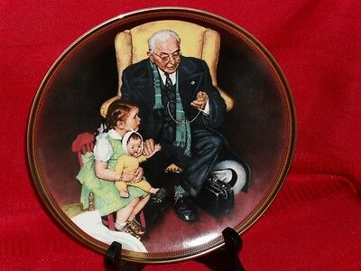 "8.5"" Norman Rockwell Plate TENDER LOVING CARE 1988"